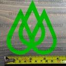 "Travis Rice Sticker 4"" Decal Quicksilver Lib Tech Lime Snowboard Bindings Union Lime Tree XO"