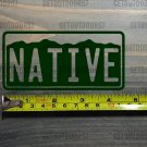 "Colorado Native Sticker Decal 4.5"" License Plate 14er Die Cut Mountains Flag XO"