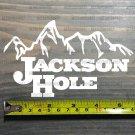 "Jackson Hole Sticker Decal 5.5"" Ski Resort White DIE CUT Snowboard Wyoming XO"