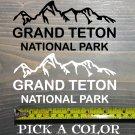 "Grand Teton Sticker Decal National Park DIE CUT 5.5"" Wyoming Idaho Jackson XO"