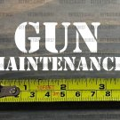 "Gun Maintenance Sticker Decal 3.5"" Ammo Can Box Ammunition Case DIE CUT XO"