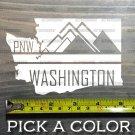 "Washington Sticker Decal 5"" DIE CUT PNW Pacific Northwest Crystal Mountain XO"