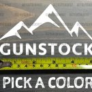 "Gunstock Sticker Decal 5"" Mountain Ski Resort New Hampshire Killington XO"