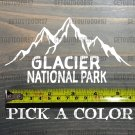 "Glacier National Park Sticker Decal 5.5"" Montana Get Lost Big Sky Die Cut XO"