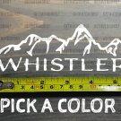 "Whistler Sticker Decal 5.5"" Helmet Ski Canada Snowboard BC XO"