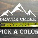"Beaver Creek Sticker 5"" Colorado Ski Mountain Snowboard Decal XO"