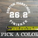 "Boston Marathon Sticker 3.5"" Decal Finisher 26.2 13.1 Half Bumper Window XO"