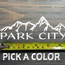 "Park City Sticker Decal Mountain DIE CUT Ski 5.5"" Snowboard Utah XO"