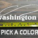 Washington Sticker Decal DIE CUT Fly Fishing Line Trout Rainbow Fish Simms XO