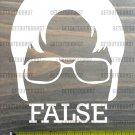 """Large Dwight Schrute Sticker Decal 4.5"""" False The Office Beets Bears Battlestar"""