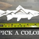 Trout Sticker Decal DIE CUT Mountain Simms Sage Fly Fishing Hatch Ross XO