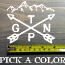 "Grand Teton Sticker Decal National Park DIE CUT 4"" Wyoming Idaho Jackson XO"