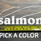 Salmon Sticker Decal Fly Fishing Fish Coho Red Chinook King Sage XO