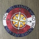 """Not All Those Who Wander Are Lost Sticker Decal 3"""" Compass Colorado Flag 14er PO"""