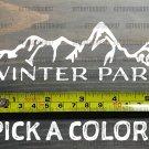 "Winter Park Sticker Decal Mountain Ski 5.5"" Die Cut Snowboard Colorado XO"