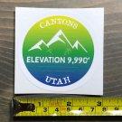 "Canyons Sticker Decal 3"" The Mountains Utah Park City Ski Snowboard Alta Deer"