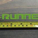 """4Runner Sticker Decal Toyota 4 Runner 5.5"""" DIE CUT 5th Gen Mountains Lime XO"""