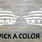 Veteran Flag Decal Pair Sticker American US Distressed USA Military Tactical XO