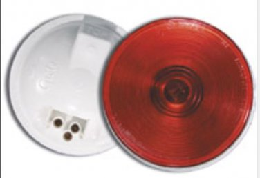 "0208069- 4"" Red Round Lamp- Incandescent"
