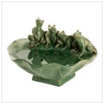 Frog And Lily Pad Tabletop Fountain