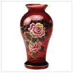 Hand-Panited Ruby Vase