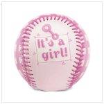 It's A Girl! Pink Baseball