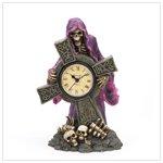 Grim Reaper Cross Clock