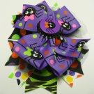 Multicolored Purple Spider Halloween Hair Bow (Item no. 00022)