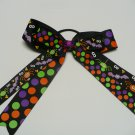 Halloween Spider Stacked Cheer Hair Bow (Item no. 00021)