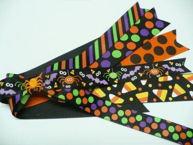 Halloween Spider Pony-O Hair Bow (Item no. 00018)