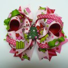 Christmas Cupcake and Candy Cane Hair Bow (Item no. 00014)
