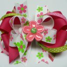 Spring Flower Power Hair Bow (Item no. 00004)