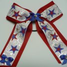 Patriotic Cheer  Hair Bow with Long Streamers (Item no. 00002)