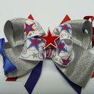 Stacked Patriotic Hair Bow (Item no. 00001)