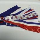 Patriotic Stars Pony-O Hair Bow Hair Bow (Item no. 00028)