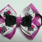 Black and Pink Cupcake Mini Hair Bow Clip (Item no. 00050)