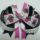 Black and Pink Cupcake Mini Clip with Polka Dots (Item no. 00049)