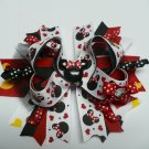 Black and White Mouse Hair Bow (Item no. 00047)