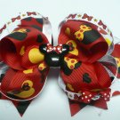 Red and Black Mouse Hair Bow (Item no. 00046)