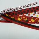 Red and Black Mouse Pony-O Hair Bow (Item no. 00045)