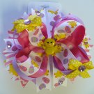 Girly Easter Chick Hair Bow