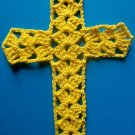 Bright Yellow Cross Bookmark Crochet