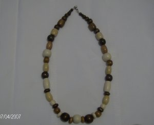 Fun and Chunky Wooden Necklace