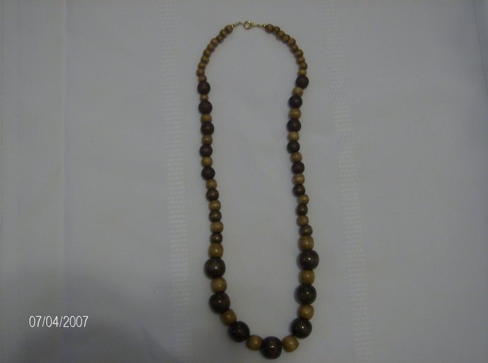 """Brown sugar"" Lovely Wooden Necklace"