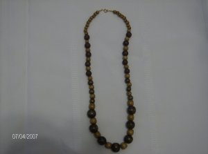 """""""Brown sugar"""" Lovely Wooden Necklace"""