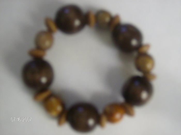 """Bubbling Brown Sugar"" Wooden Bracelet"