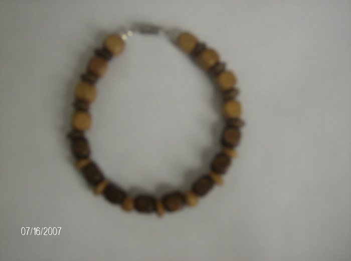Caramel and Chocolate Wooden Bracelet