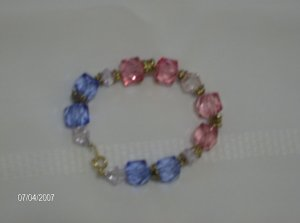 """Hard Candy"" Glass bead Bracelet"