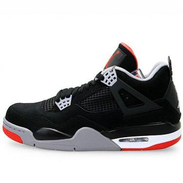super popular 2536f af276 Nike Air Jordan 4 Bred Flights Black Cement Retro Size 11.