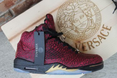 promo code 4a49b 070ec Nike Air Jordan 5 3Lab5 Versace Medusa Size 8 Customs